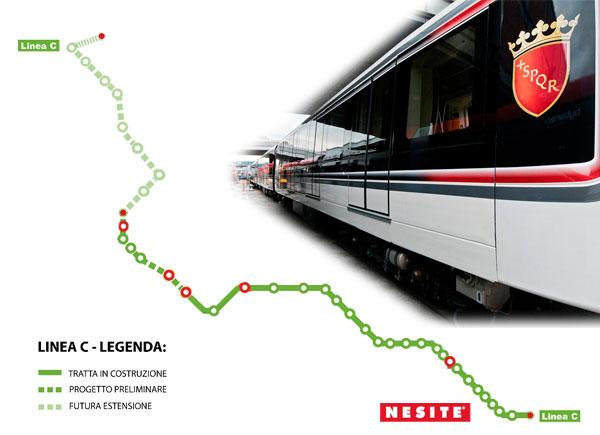 thumb metro01 ita Nesite fornirà 9.000 mq di pavimento sopraelevato per la Metro C di Roma.