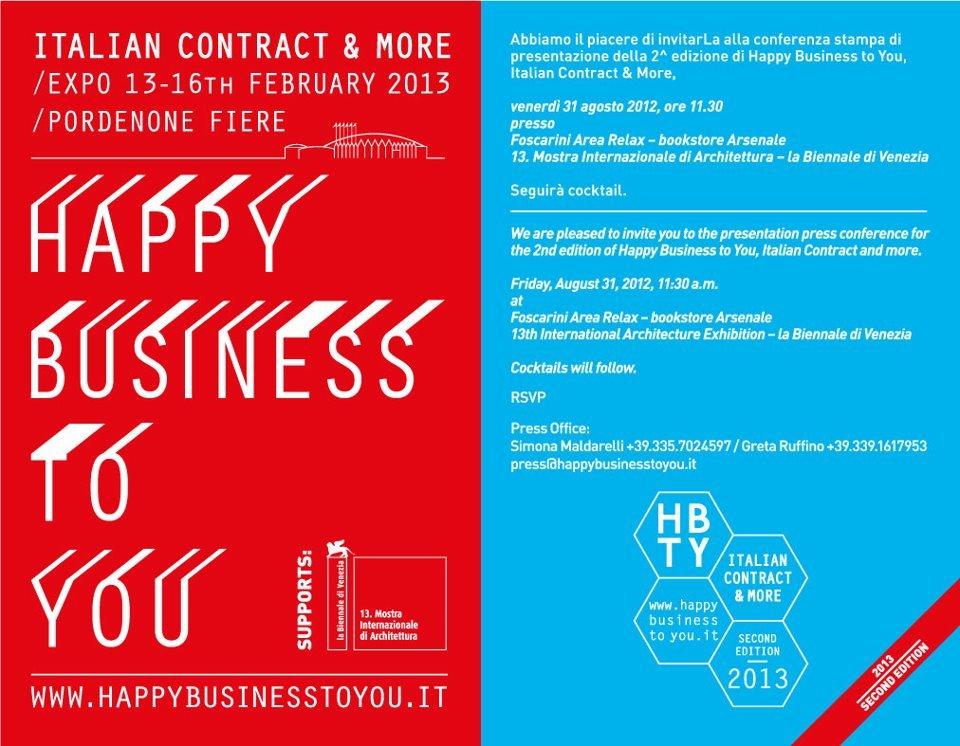 Happy Business to You rinnova lappuntamento per il 2013