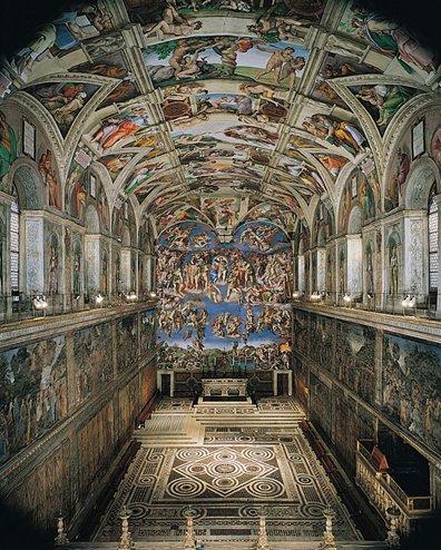 Conclave il pavimento della cappella sistina preparato for Decorazione quattrocentesca della cappella sistina
