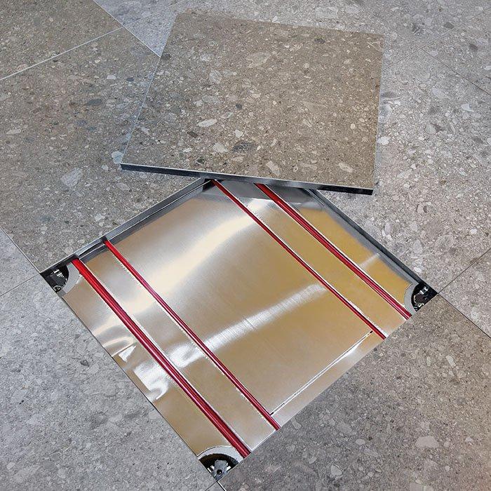 Diffuse radiant raised floor system