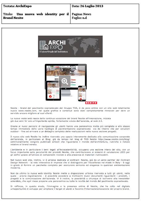 Archiexpo: Nesite rinnova la sua web identity