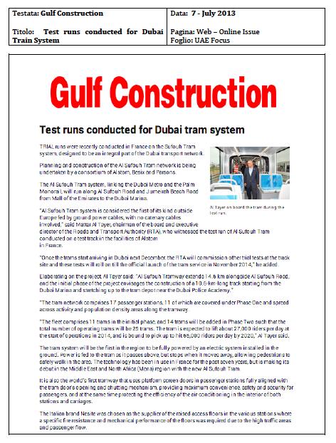 Nesite raised access floor for The Al Sufouh Tram System in Dubai