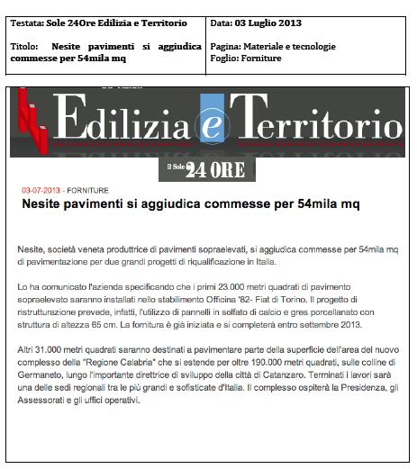 L'azienda veneta di pavimenti sopraelevati Nesite si aggiudica due grandi progetti di riqualificazione in Italia