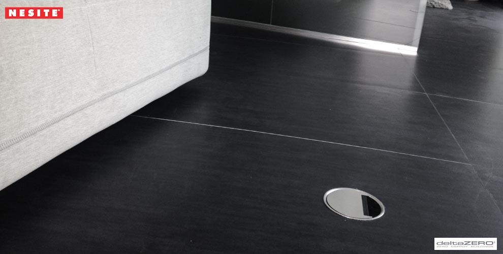 passacavi pavimento diffuse nesite DeltaRosso by DeltaZero