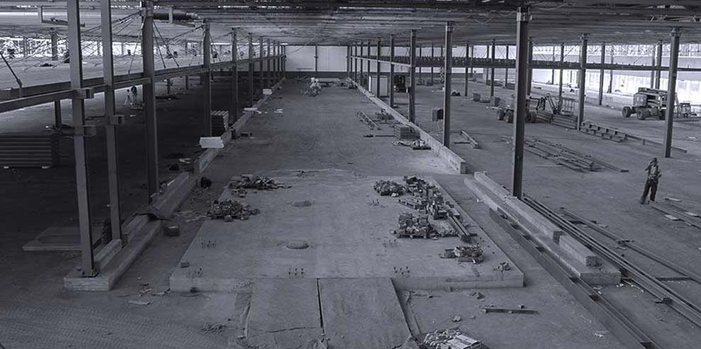 inizio lavori cantiere officine 821 Officina 82 of Mirafiori: renovation and eco sustainability