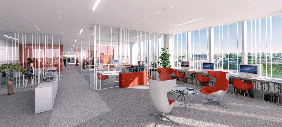 Progetto sky 56 uffici da vivere for Piani dell edificio per la colazione