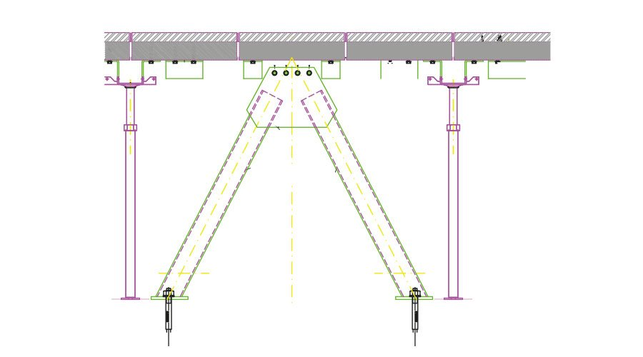 bracing system a v rovescia Progettazione sismica per pavimenti sopraelevati