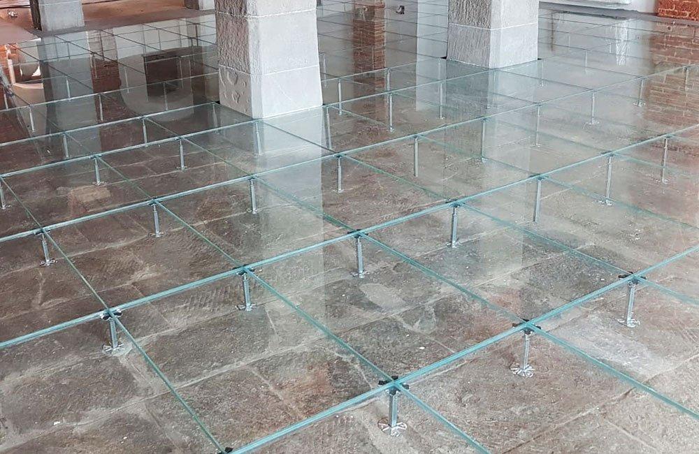 pavimento gallegiante in vetro Progetto Leopoldine, la rinascita di un patrimonio architettonico e culturale