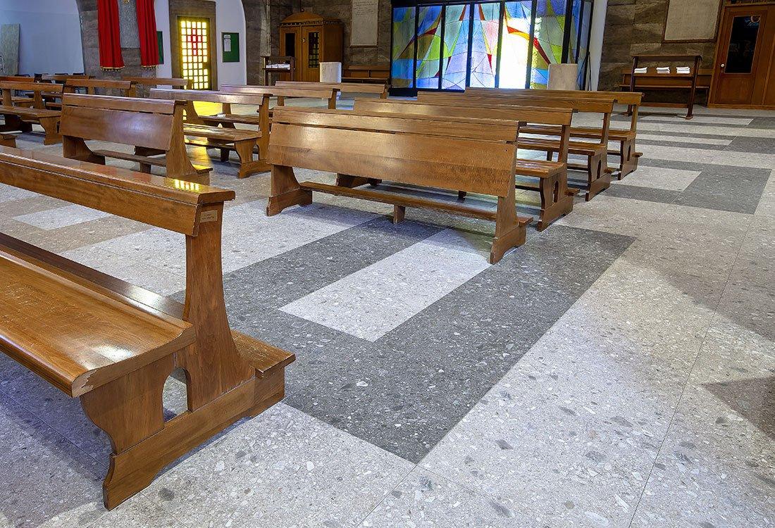 Pavimento radiante Diffuse nella Chiesa di s. Michela a Milano - Nesite
