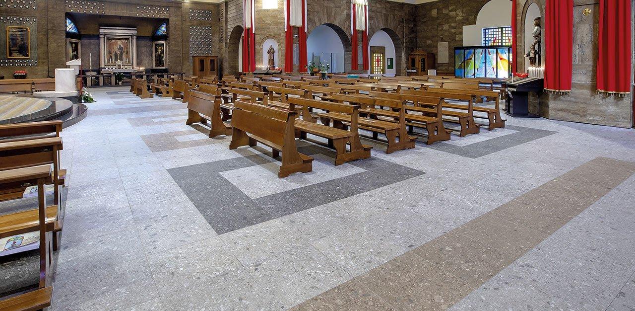 risanamento conservativo con pavimento sopraelevato radiante