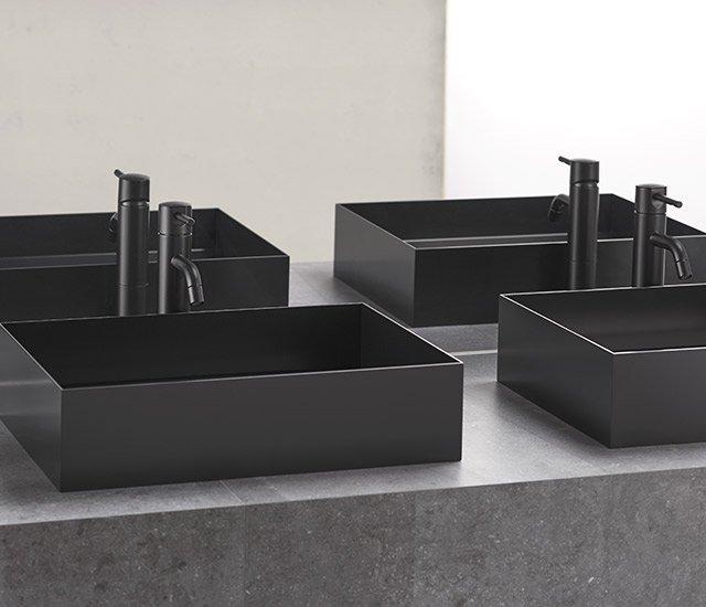 asse 500 lavabo in acciaio design sanwaacompany