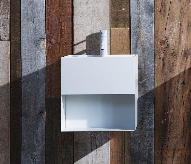 Cara - lavabo in acciaio inox by sanwacompany