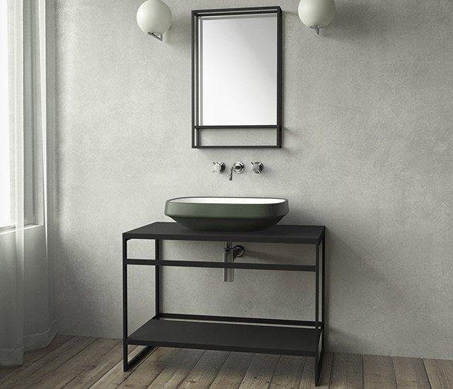 Fine Counter - mobile lavabo in acciaio