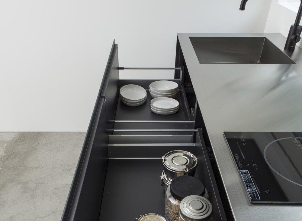 cucina in acciaio inox