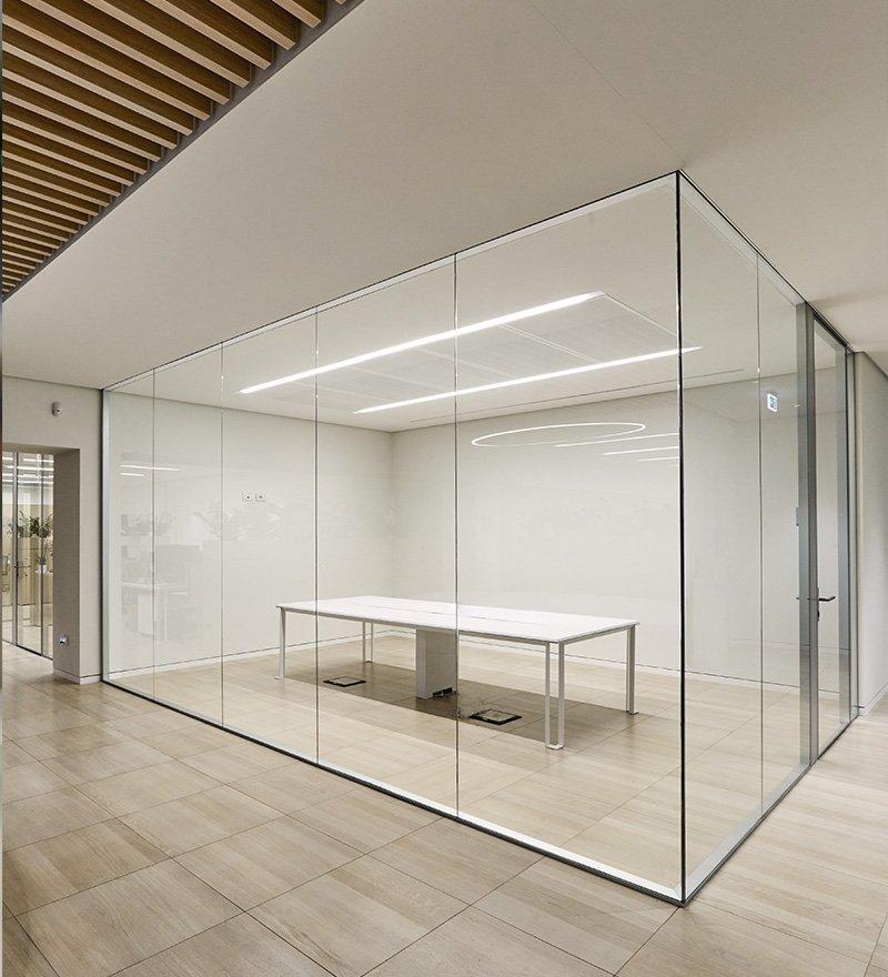 pareti mobili in vetro - uffici EF Solare
