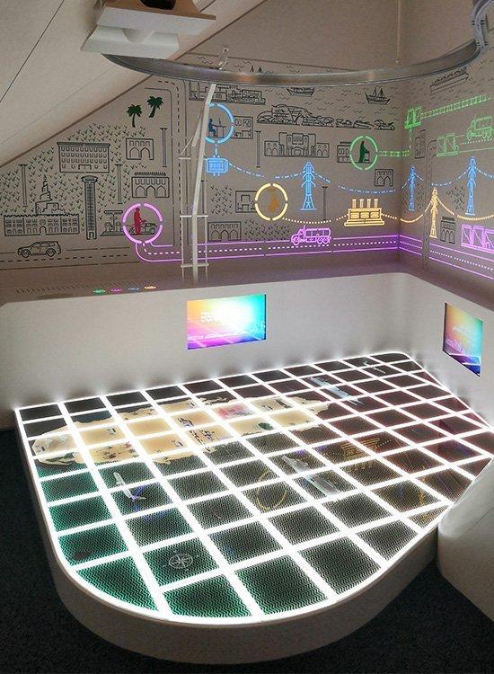 pavimento sopraelevato interattivo Museo nazionale del Qatar