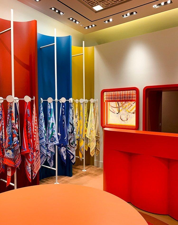 Temporary store Hermès Roma 2020