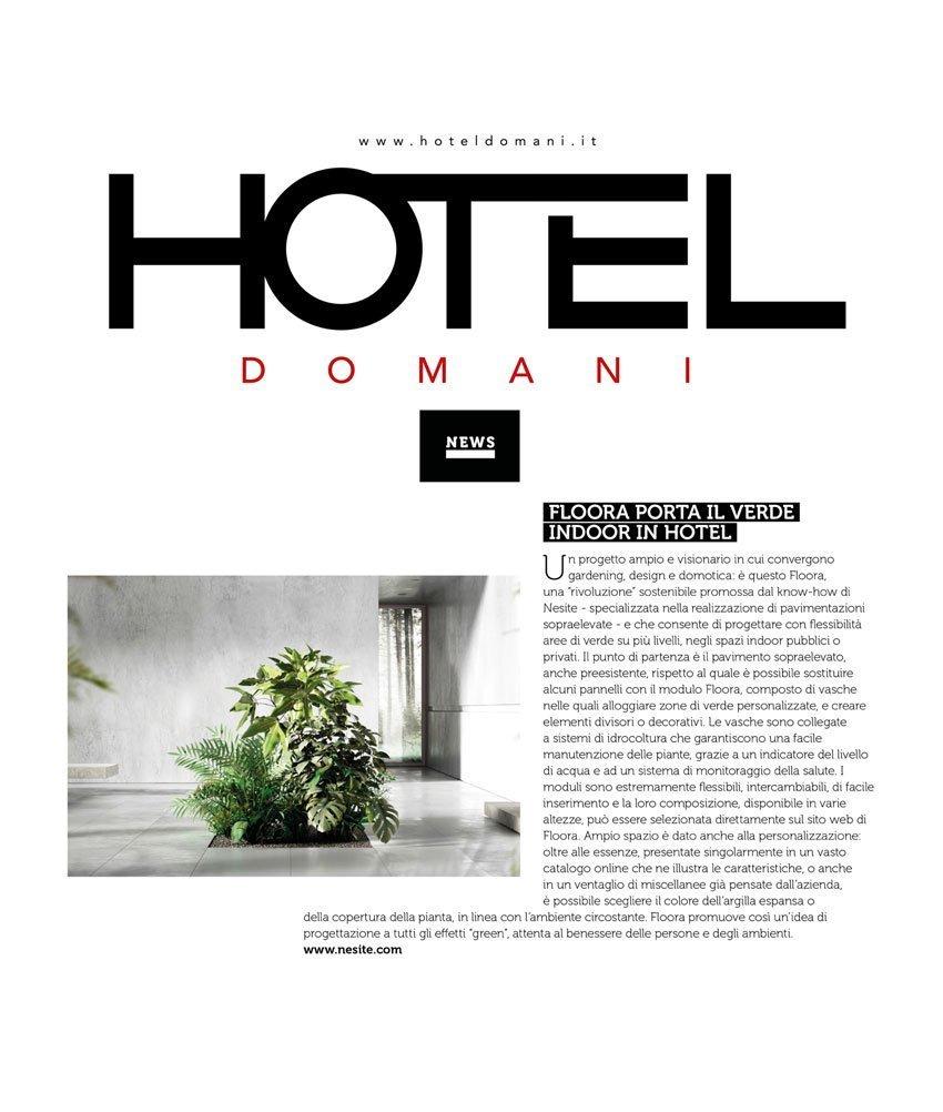 Floora - articolo Hotel Domani