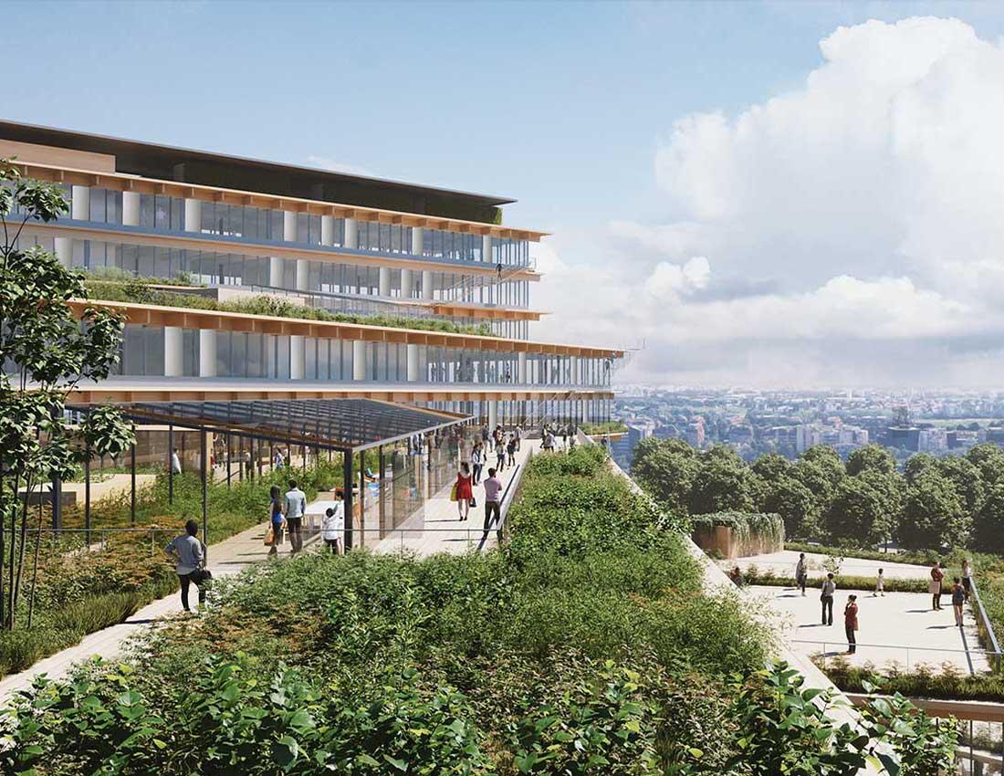 Progetto Welcome di Kengo Kuma Architects, l'ufficio del futuro è biofilico